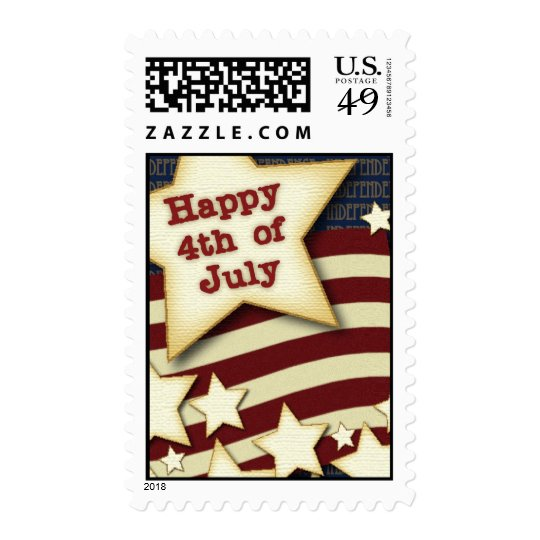 Happy 4th July Postage