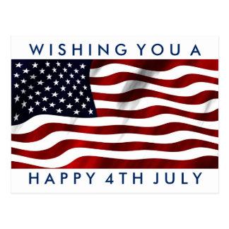 Happy 4th July Postcard