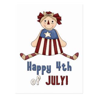 Happy 4th July! Postcard