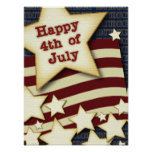 Happy 4th July Posters