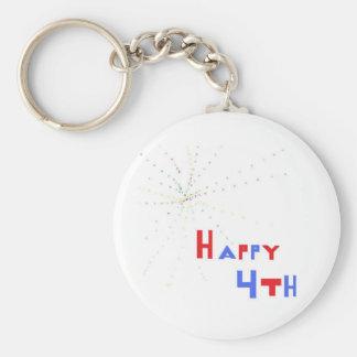 Happy 4th keychain