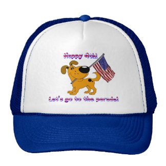Happy 4th! Let's go to the parade! Mesh Hat