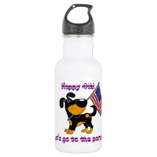 Happy 4th! Let's go to the parade! Water Bottle