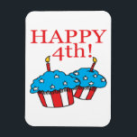 "Happy 4th magnet<br><div class=""desc"">Celebrate the 4th of July and show your Independence with your friends,  family and the world with these Holiday designs on your favorite products!</div>"