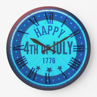 Happy 4th Of July 1776 Round Wall Clock
