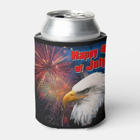 Happy 4th of July 1 Can Cooler