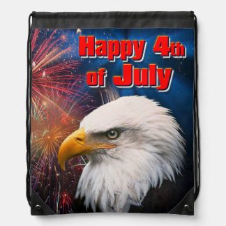 Happy 4th of July 1 Drawstring Backpack