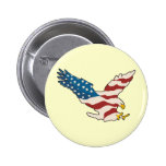 HAPPY 4TH OF JULY 2 INCH ROUND BUTTON