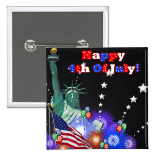Happy 4th Of July 2 Inch Square Button