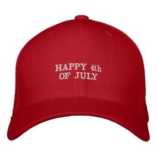 Happy 4th of July - #America Embroidered Baseball Cap