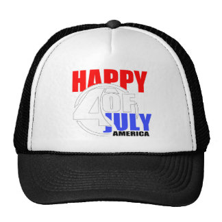 Happy 4th of July America Hat