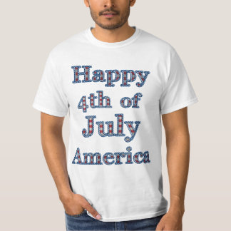 Happy 4th of July America Stars & Stripes T-Shirt
