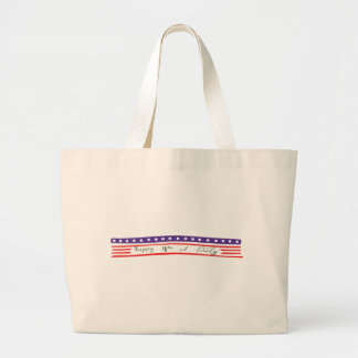 Happy 4th of July American Flag Canvas Bags