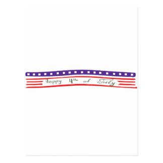 Happy 4th of July American Flag Postcard