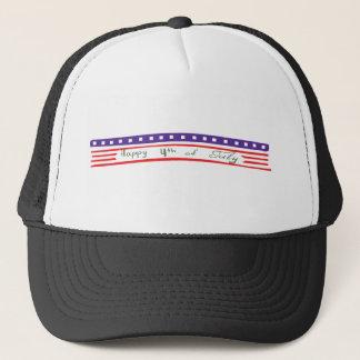 Happy 4th of July American Flag Trucker Hat