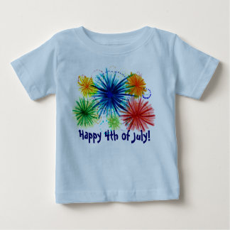 Happy 4th of July baby shirt