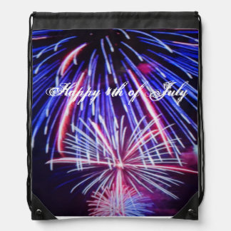 Happy 4th of July back pack Cinch Bags