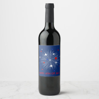 Happy 4th of July! Beer Label | Fireworks