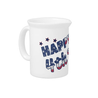 Happy 4th Of July Beverage Pitcher