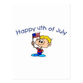 Happy 4th Of July (Boy) Postcard