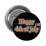 Happy 4th Of July Buttons