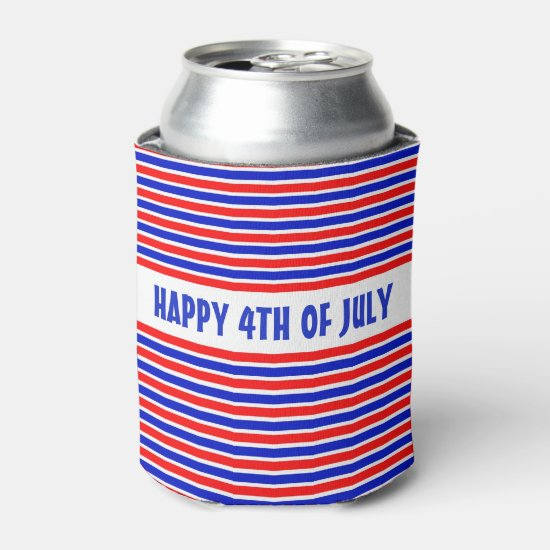 HAPPY 4TH OF JULY CAN COOLER