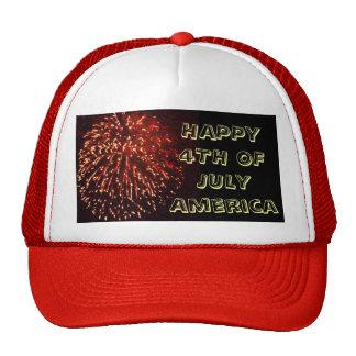 HAPPY 4TH OF JULY cap Trucker Hat
