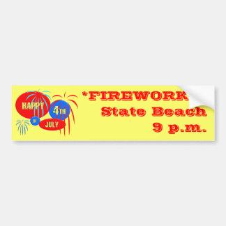 Happy 4th of July Car Bumper Sticker