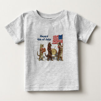 Happy 4th Of July Cats Infant T-Shirt