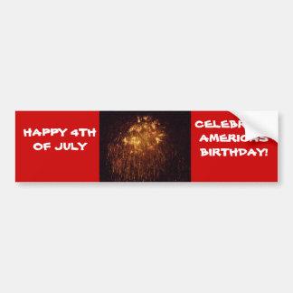 HAPPY 4TH OF JULY, CELEBRATE AMERICA bumper stick Car Bumper Sticker
