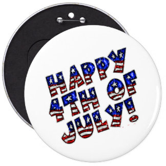 Happy 4th of July/Colossal, 6 Inch Round Button