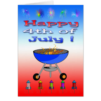 Happy 4th of July Cookout Greeting Card