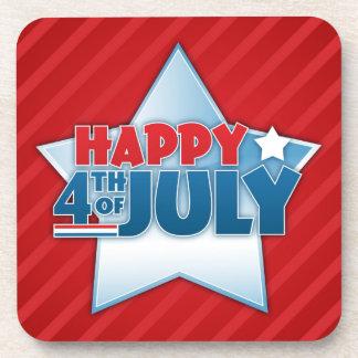 Happy 4th of July Cork Coaster