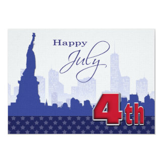 Happy 4th of July. Custom Flat Greeting Cards