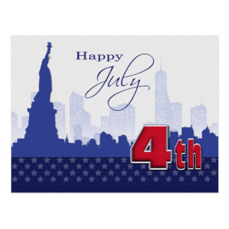 Happy 4th of July. Customizable Postcard