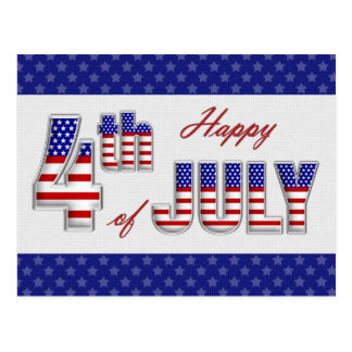 Happy 4th of July. Customizable Post Card