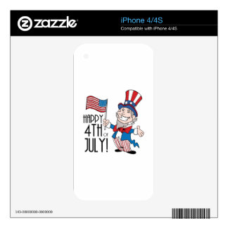 Happy 4th of July Decals For The iPhone 4
