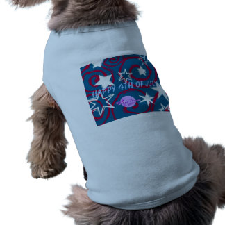 Happy 4th of July Doggie Ribbed Tank Top