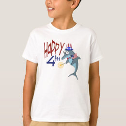 Happy 4th of July Dolphin T-Shirt