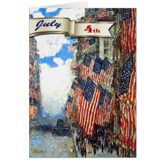 Happy 4th of July. Fine Art Customizable Cards