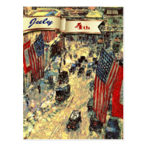 Happy 4th of July. Fine Art Customizable Postcards