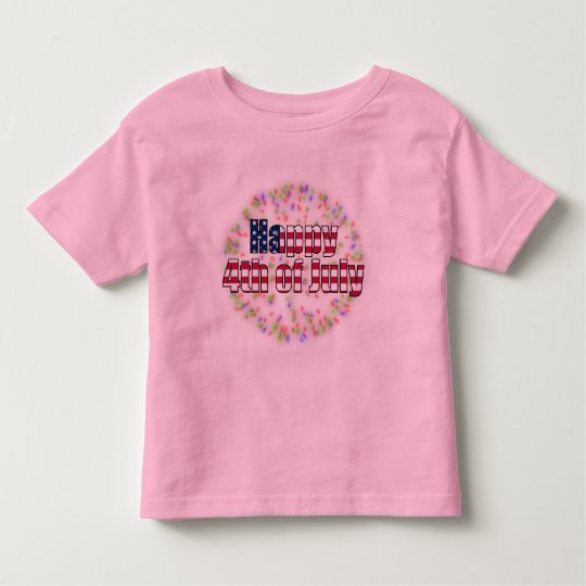 Happy 4th of July Fireworks Toddler Ringer T-Shirt