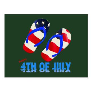 Happy 4th Of July - Flip Flop Postcard