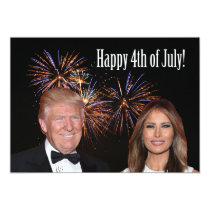 Happy 4th of July from Donald  and Melania Trump Card