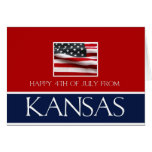happy 4th of July from Kansas Greeting Card