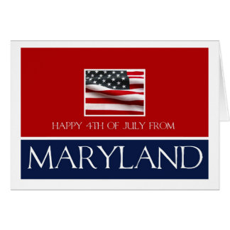 happy 4th of July from Maryland Card