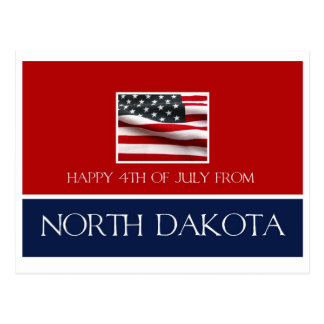 happy 4th of July from North Dakota Postcard