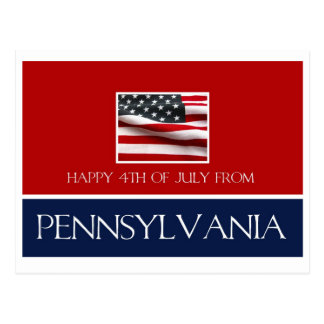 happy 4th of July from Pennsylvania Postcard