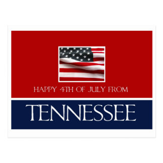 happy 4th of July from Tennessee Postcard