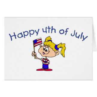 Happy 4th Of July (Girl) Card
